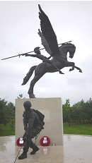 The memorial which is situated at The National Memorial Arboretum, Alrewas, Staffordshire