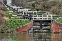 Caen Hill Locks on the Kennet and Avon Canal